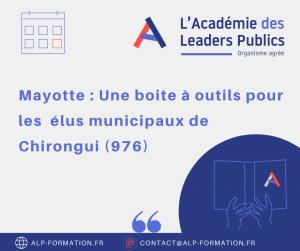 Mayotte une boite à outils pour les élus municipaux de Chirongui
