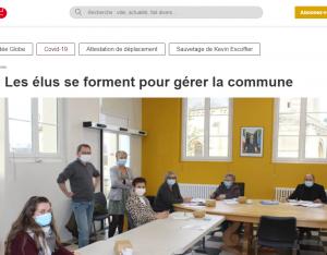 Le journal Ouest France parle d'ALP Formation à Trévières pour la formation des élus de la commune